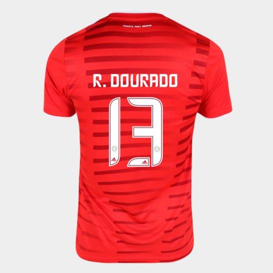 Camisa Internacional I 21/22 R. Dourado Nº13 Torcedor Adidas Masculina - Vermelho