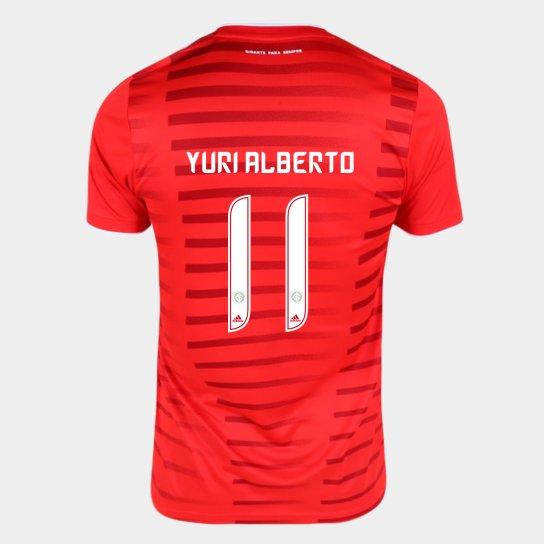 Camisa Internacional I 21/22 Yuri Alberto Nº11 Torcedor Adidas Masculina - Vermelho