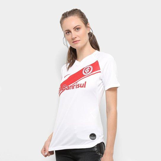 Camisa Internacional II 19/20 s/nº Torcedor Nike Feminina - Branco+Vermelho