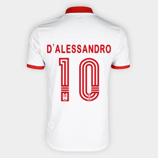 Camisa Internacional II 20/21 Nº 10 D'Alessandro Torcedor Adidas Masculina - Branco