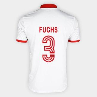Camisa Internacional II 20/21 Nº 3 Fuchs Torcedor Adidas Masculina