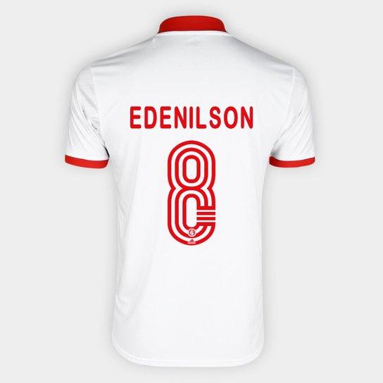 Camisa Internacional II 20/21 - Nº 8 Edenilson Torcedor Adidas Masculina - Branco