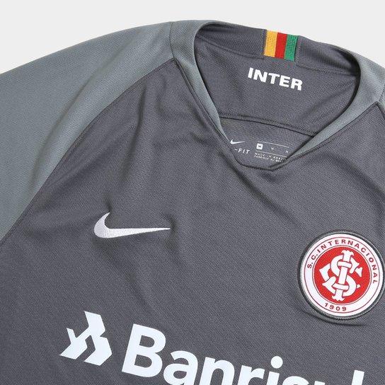 Camisa Internacional III 2018 s/n° - Torcedor Nike Masculina - Cinza+Branco