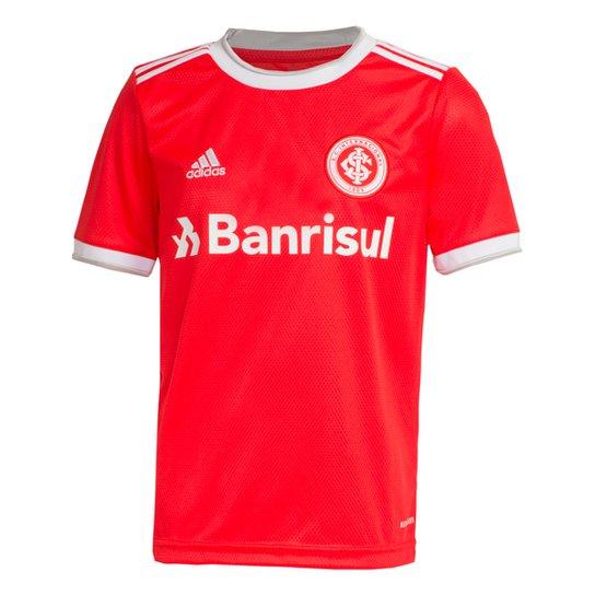 Camisa Internacional Infantil I 20/21 s/nº Torcedor Adidas - Vermelho