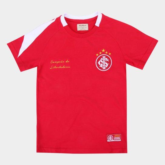 Camisa Internacional Juvenil 2006 Libertadores Retrô Mania - Vermelho