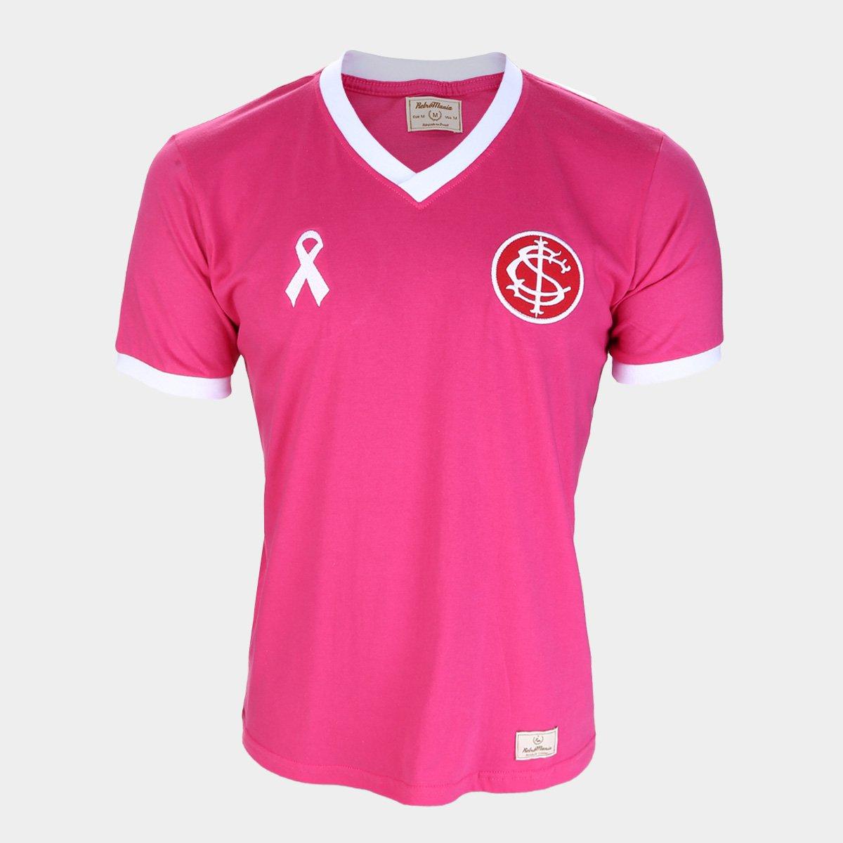 Camisa Internacional Outubro Rosa Retro Mania Masculina Rosa Loja Do Inter