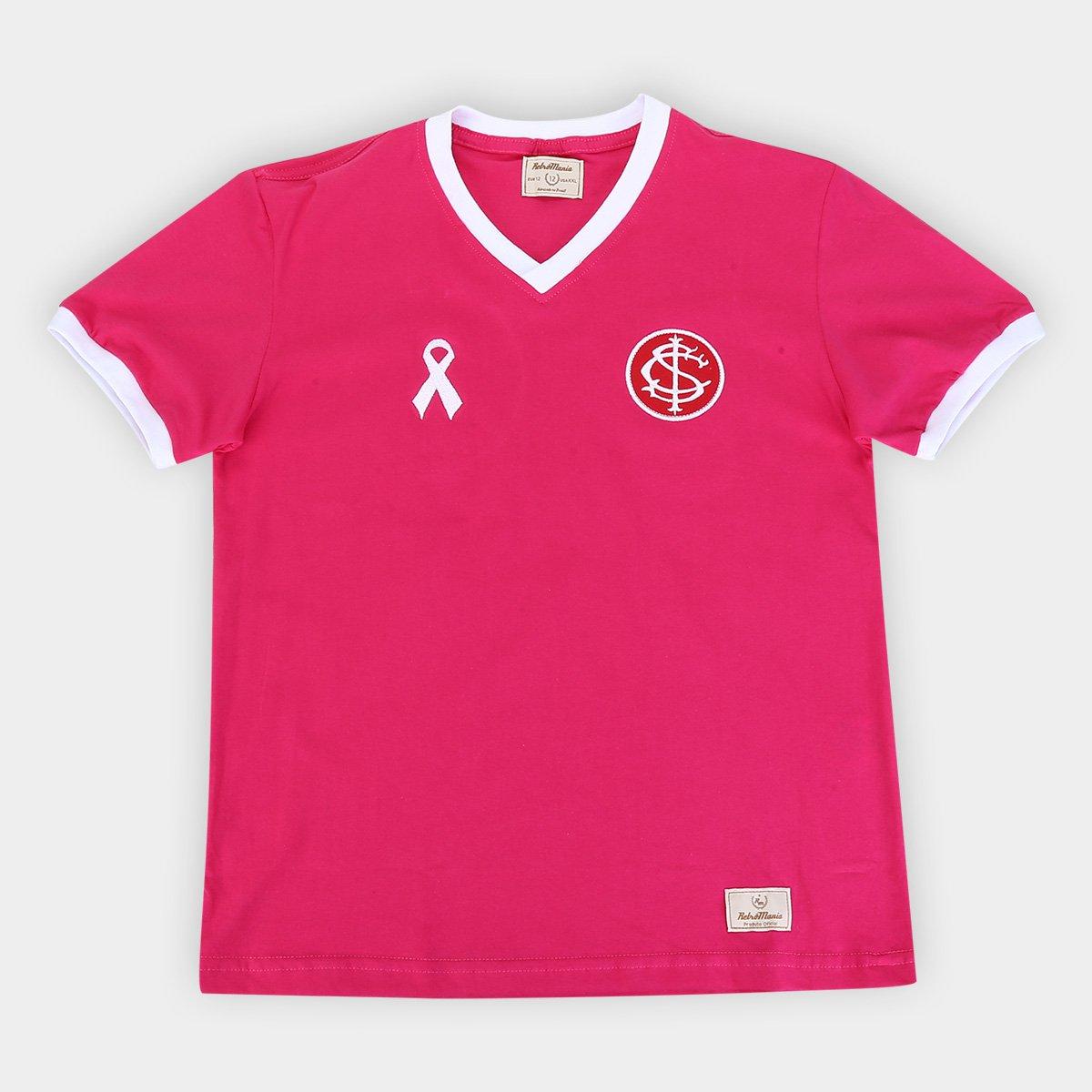 Camisa Juvenil Internacional Outubro Rosa Retro Mania Rosa Loja Do Inter