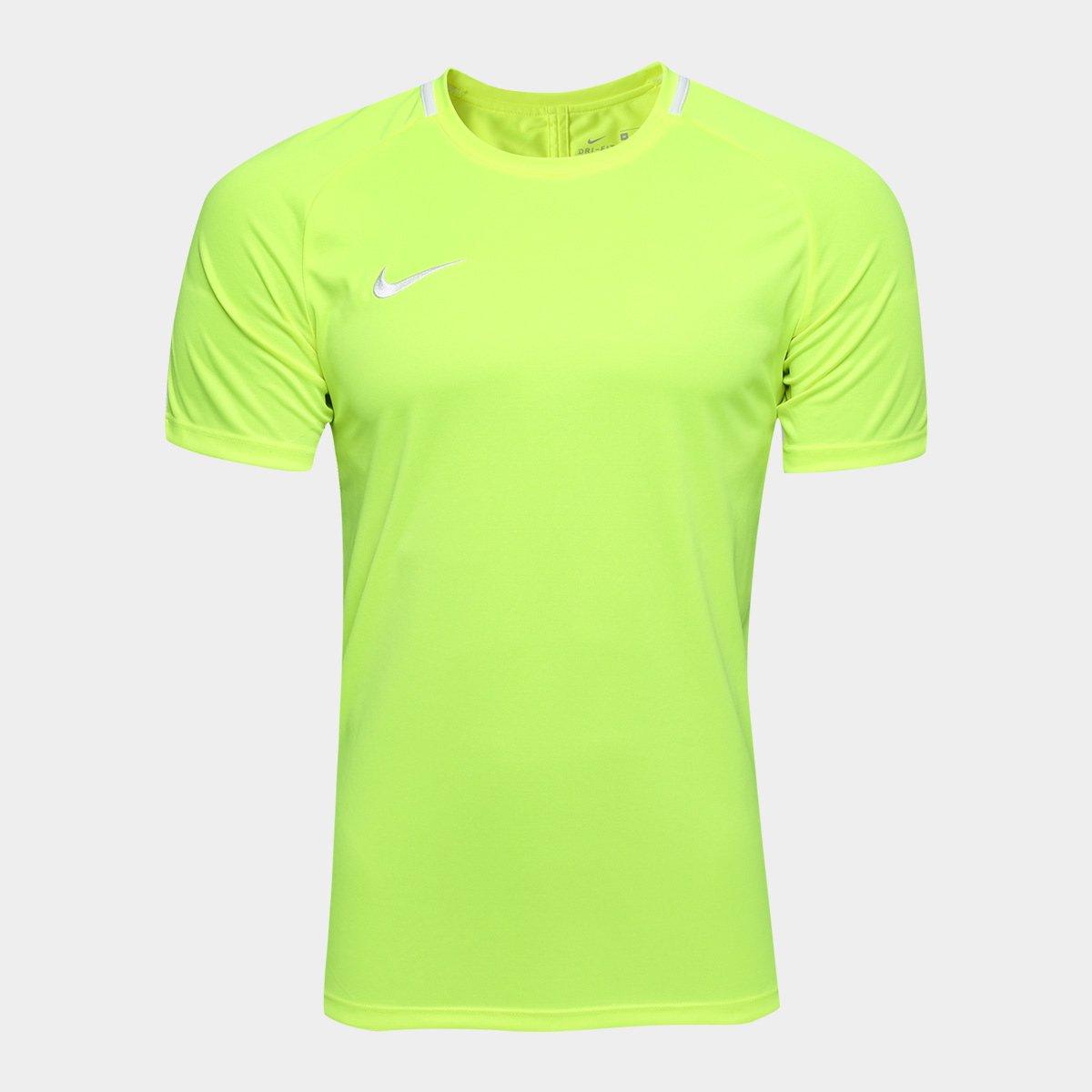 5bfb7e21cc628 Camisa Nike Academy Masculina - Verde Limão - Compre Agora