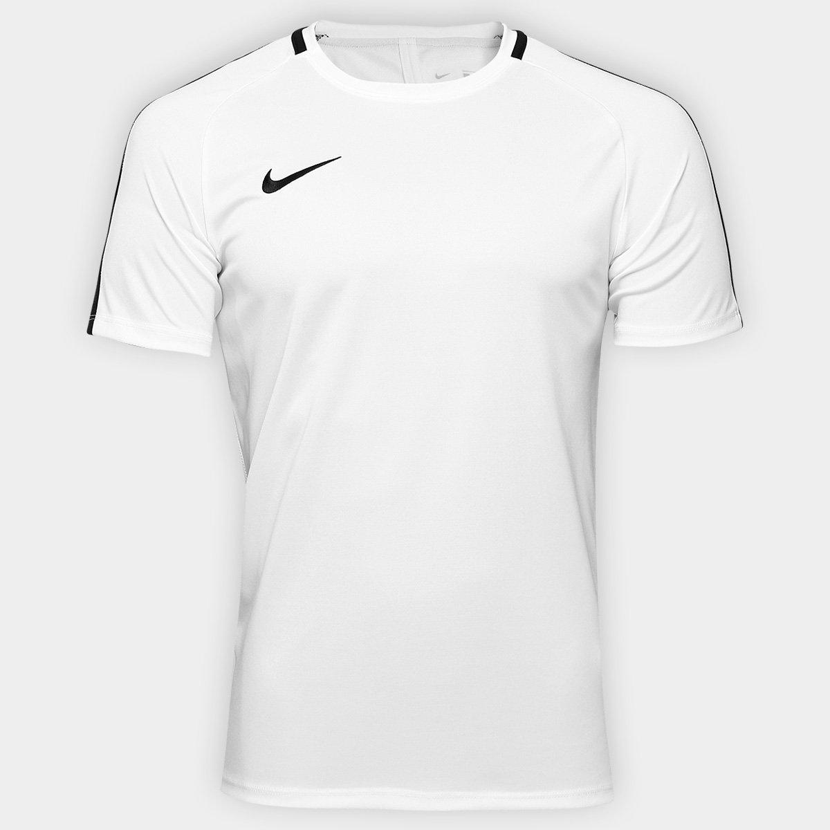 Camisa Nike Academy Masculina - Branco e Preto - Compre Agora  05a285dd7b27f