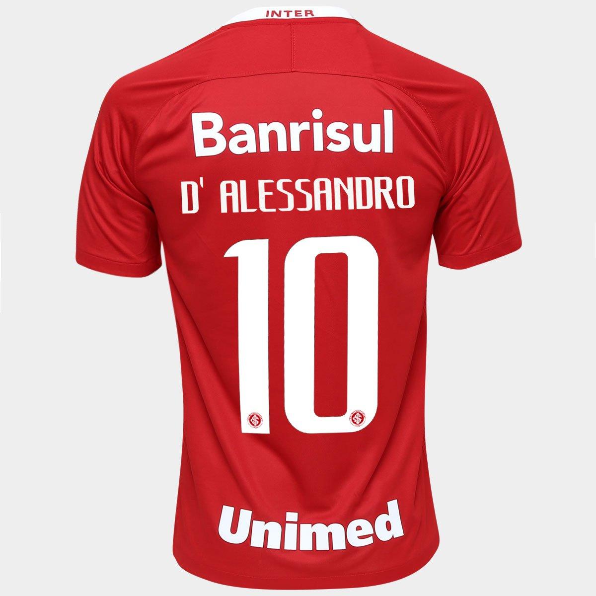 4826804f70f95 Camisa Nike Internacional I 2016 n° 10 - D  Alessandro - Compre Agora