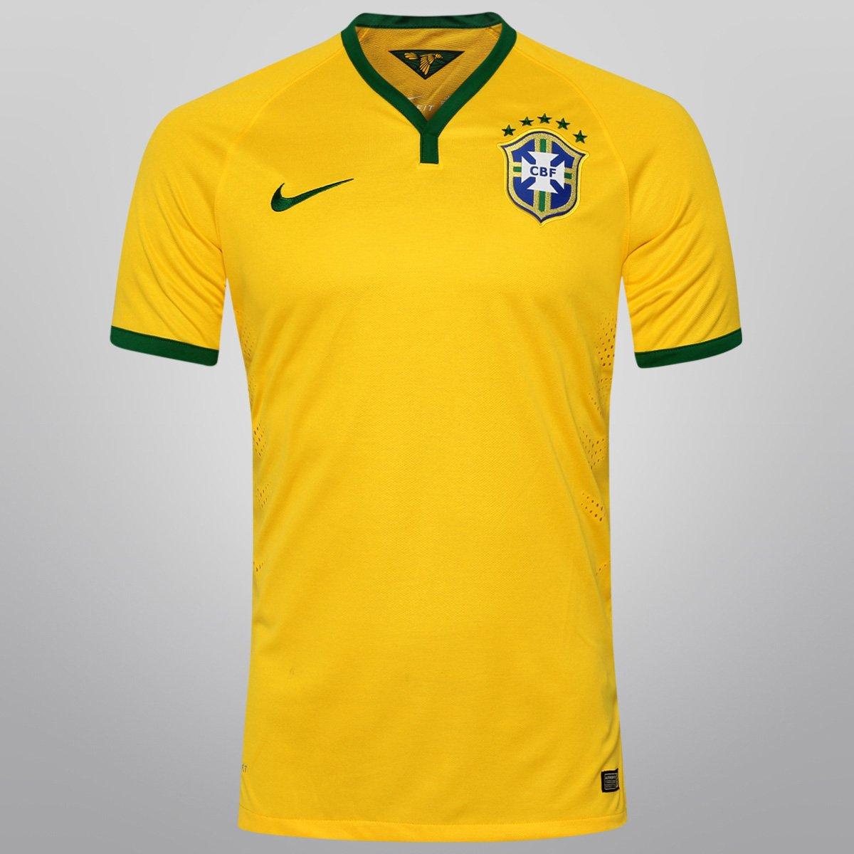 92c691770b Camisa Nike Seleção Brasil I 2014 nº 10 - Jogador - Compre Agora ...