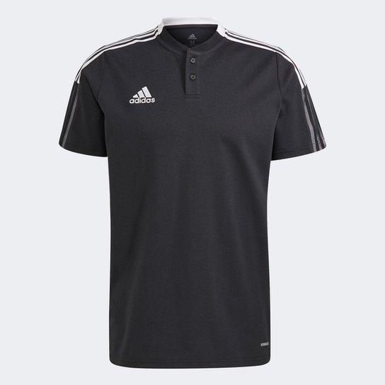 Camisa Polo Adidas Tiro 21 Masculina - Preto