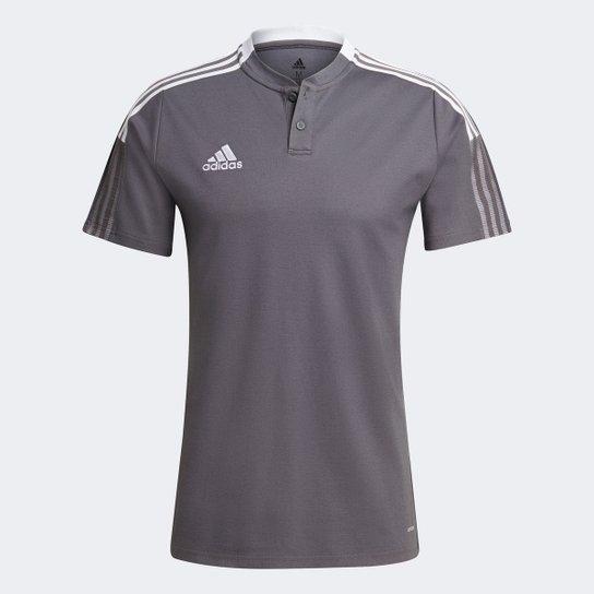 Camisa Polo Adidas Tiro 21 Masculina - Cinza