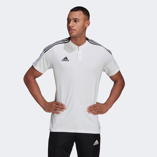 Camisa Polo Adidas Tiro 21 Masculina - Branco