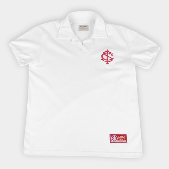 Camisa Polo Infantil Internacional Retrô Mania - Branco