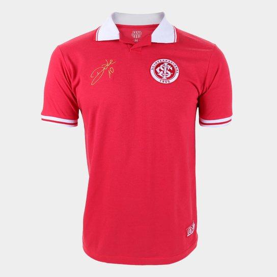 Camisa Polo Internacional D'Alessandro Básica RetrôMania Masculina - Vermelho