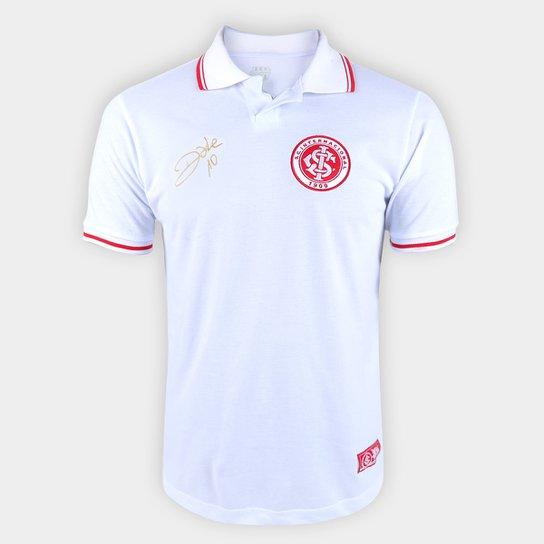 Camisa Polo Internacional D'Alessandro Design RetrôMania Masculina - Branco