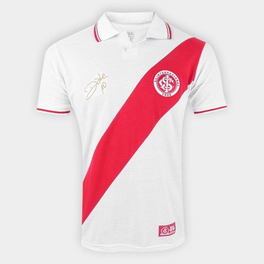 Camisa Polo Internacional D'Alessandro Diagon RetrôMania Masculina - Branco