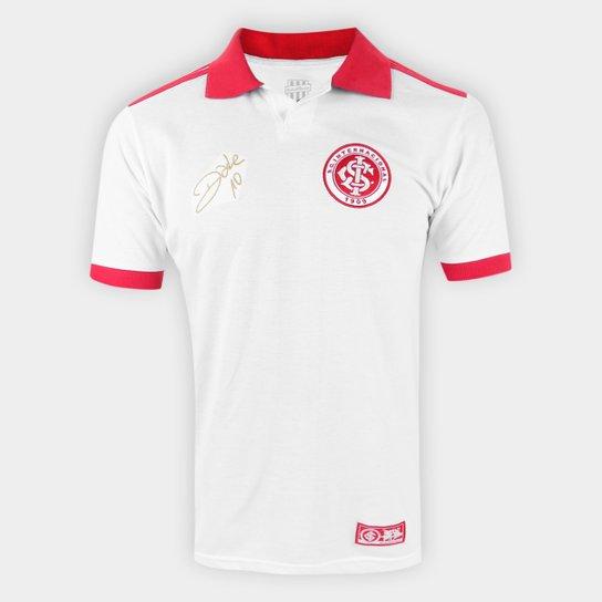 Camisa Polo Internacional D'Alessandro RetrôMania Masculina - Branco