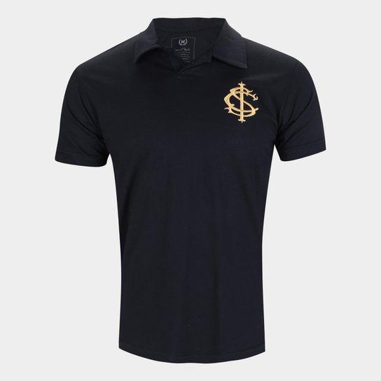 Camisa Polo Internacional Gold Retrô Mania Masculina - Preto