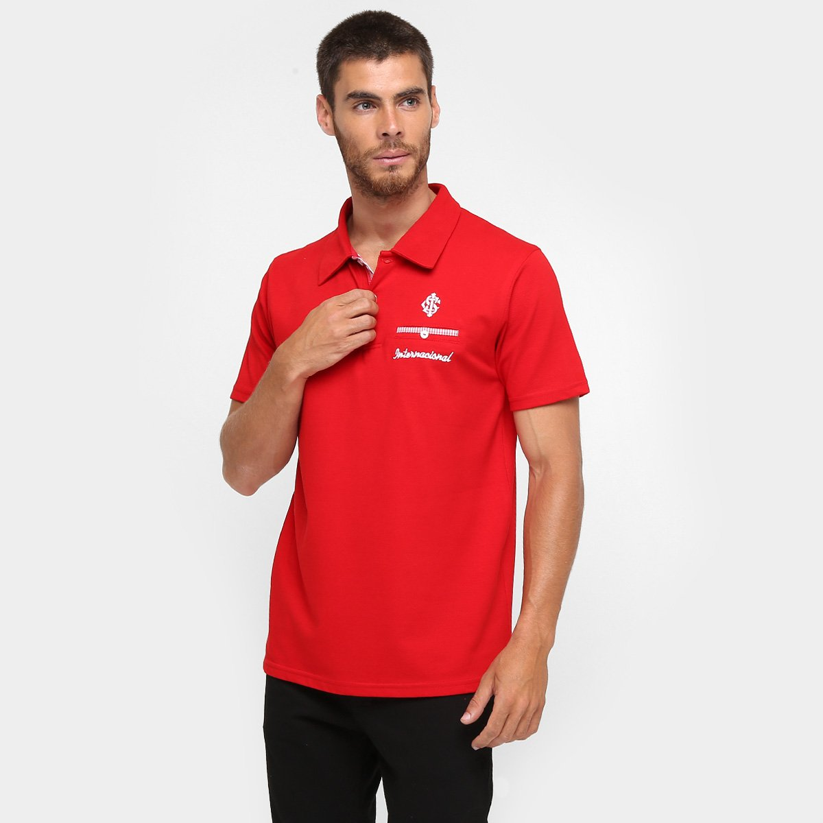 Camisa Polo Internacional Podium Masculina 9cd546e2cce30