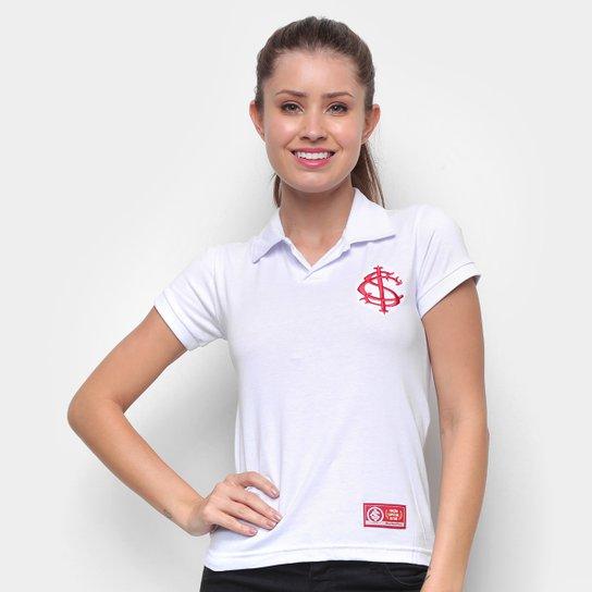 Camisa Polo Internacional Retrô Mania Feminina - Branco