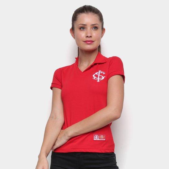 Camisa Polo Internacional Retrô Mania Feminina - Vermelho