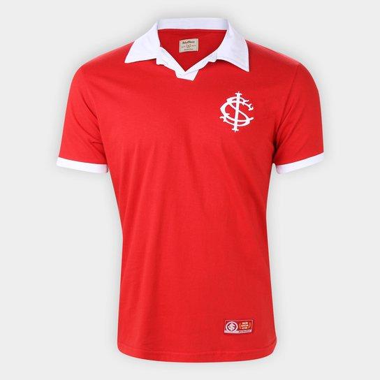 Camisa Polo Internacional Retrô Mania Masculina - Vermelho+Branco