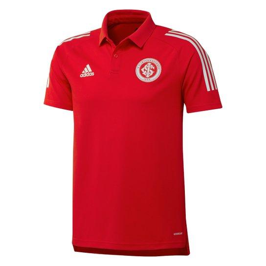 Camisa Polo Internacional Viagem 21/22 Adidas Masculina - Vermelho