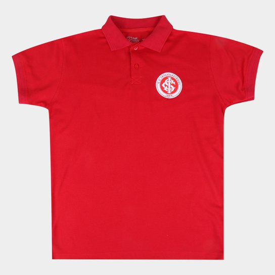 Camisa Polo Juvenil Internacional - Vermelho