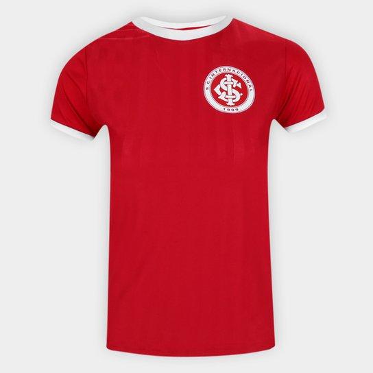 Camisa Retrô Internacional Edição Limitada Feminina - Vermelho+Branco