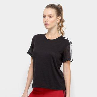 Camiseta Adidas 3S Mesh Sleeve Feminina