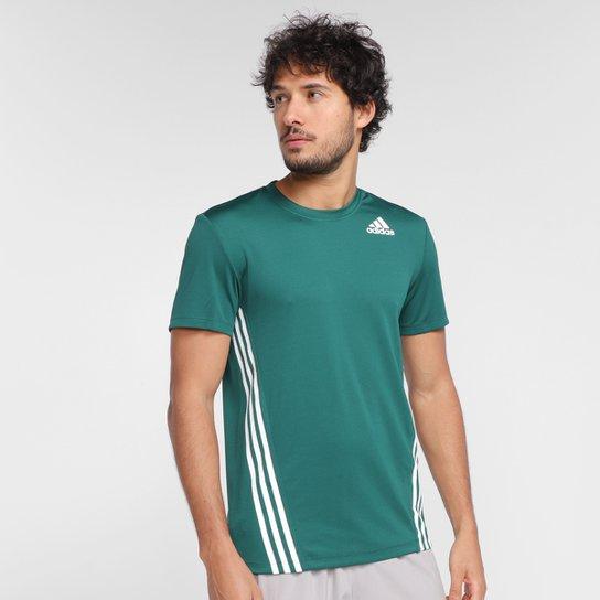 Camiseta Adidas Aeroready 3 Listras Masculina - Verde