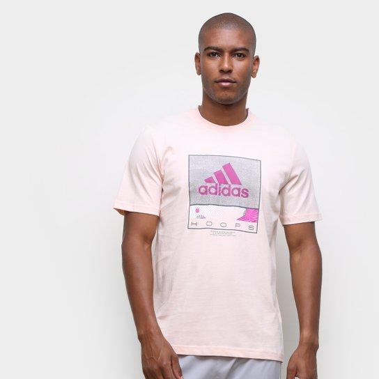 Camiseta Adidas Future Hoops Masculina - Rosa