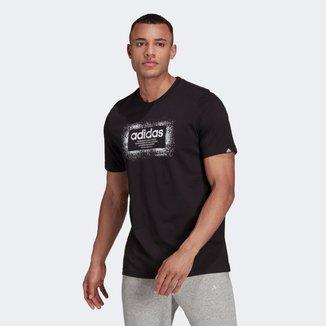 Camiseta Adidas Logo Linear Metalizada Masculina