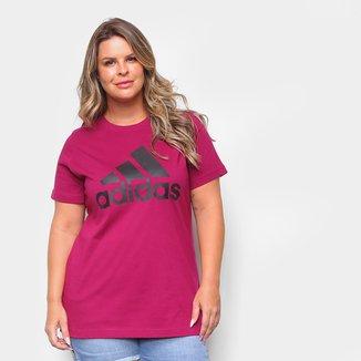 Camiseta Adidas Logo Plus Size Feminina