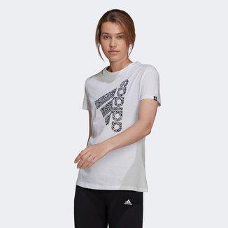 Camiseta Adidas Logo Vertical Zebra Feminina