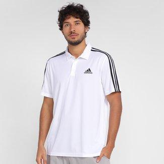 Camiseta Adidas Polo 3 Listras Designed To Move Masculina