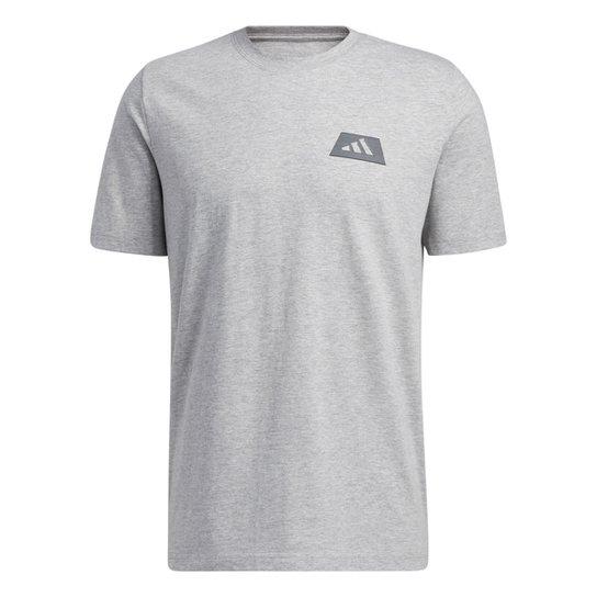 Camiseta Adidas Repeat Masculina - Cinza+Preto