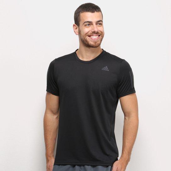 Camiseta Adidas Response Masculina - Preto+Chumbo