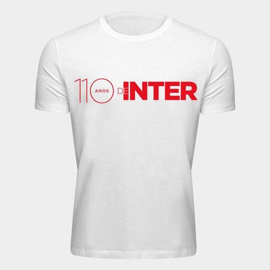 Camiseta Aniversário 110 anos de Inter Masculina - Branco