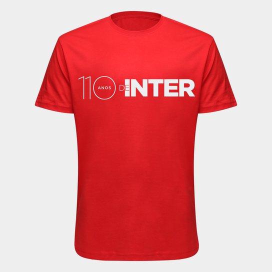 Camiseta Aniversário 110 anos de Inter Masculina - Vermelho