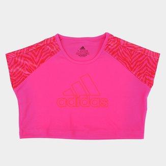 Camiseta Infantil Adidas Boss Camuflada Feminina