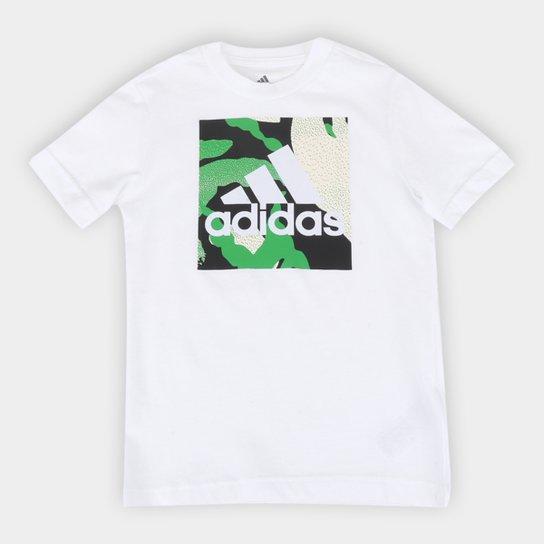 Camiseta Infantil Adidas Camuflada Graphic Masculina - Branco