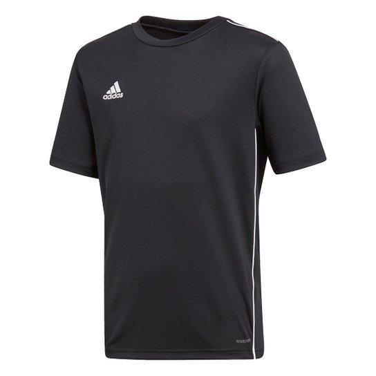 Camiseta Infantil Adidas Core 18 - Preto+Branco