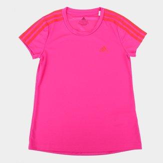 Camiseta Infantil Adidas D2M 3 Stripes Feminina