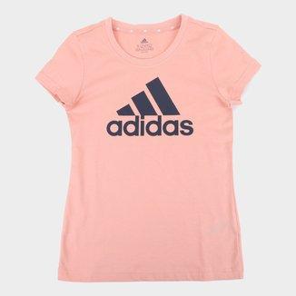 Camiseta Infantil Adidas Essentials Big Logo Feminina