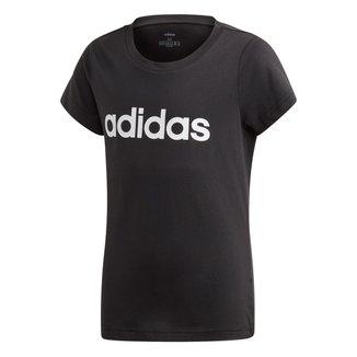 Camiseta Infantil Adidas Estampa Logo YG LIN TEE Manga Curta Feminina
