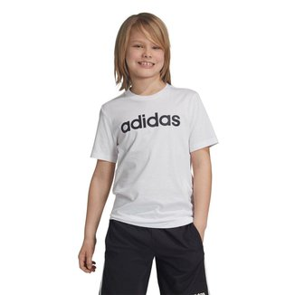 Camiseta Infantil Adidas Youth Boys Essentials Linear Manga Curta