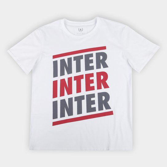 Camiseta Infantil Internacional Listras Retrô Mania - Branco